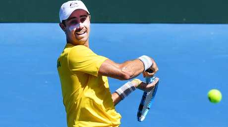 Jordan Thompson will play John Isner in the quarter-finals of the ATP New York tournament. Picture: AAP