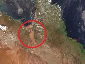 Queensland floods: 60km-wide 'mega river' suddenly appears