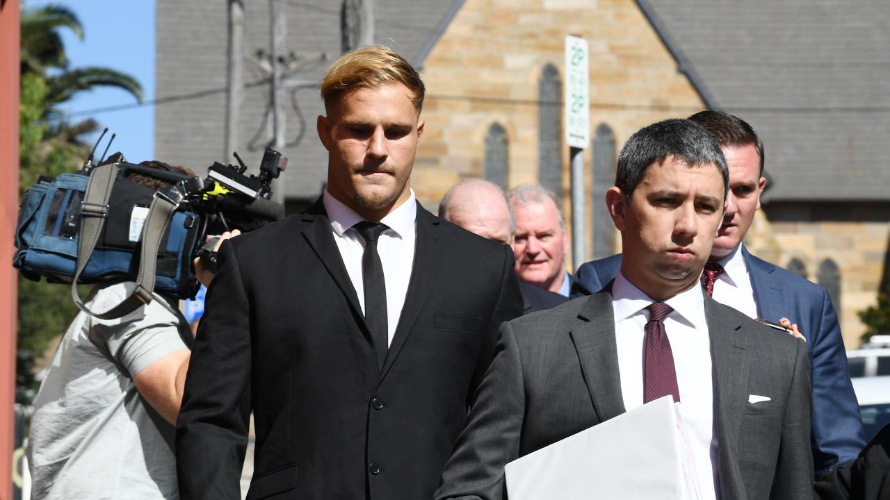 De Belin arrives at court on Monday.
