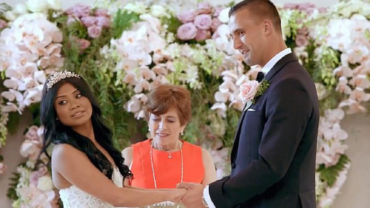 Cyrell and Nic on their wedding day.
