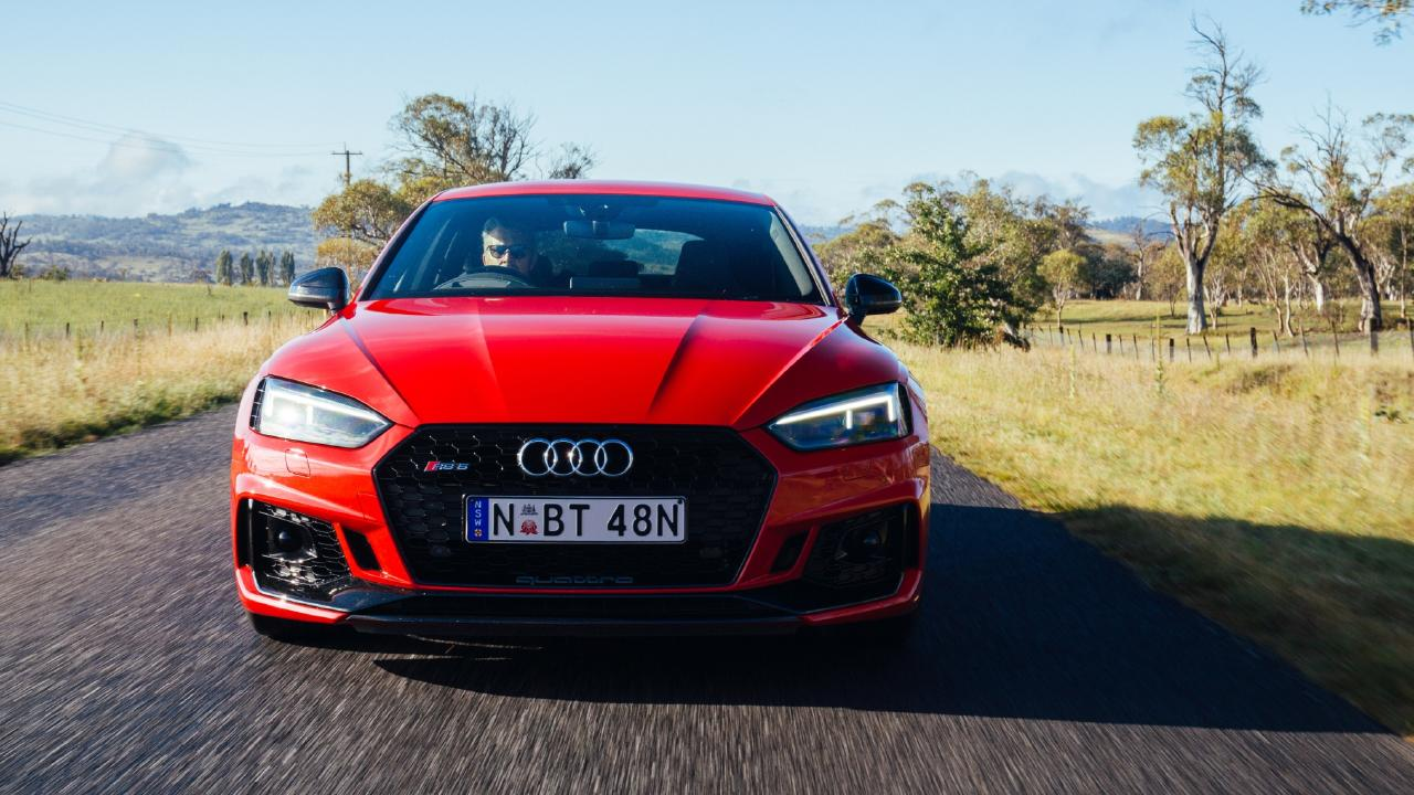 The RS5 has sedated styling for a performance car.