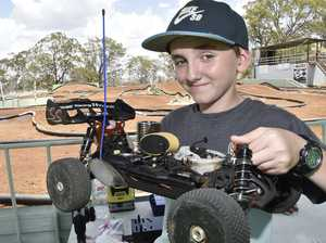 Remote controlled car racers test their skills