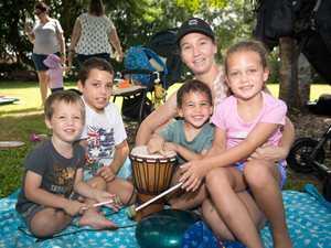 Tara Taylor with Austin Becker, 3, Jared Becker, 10