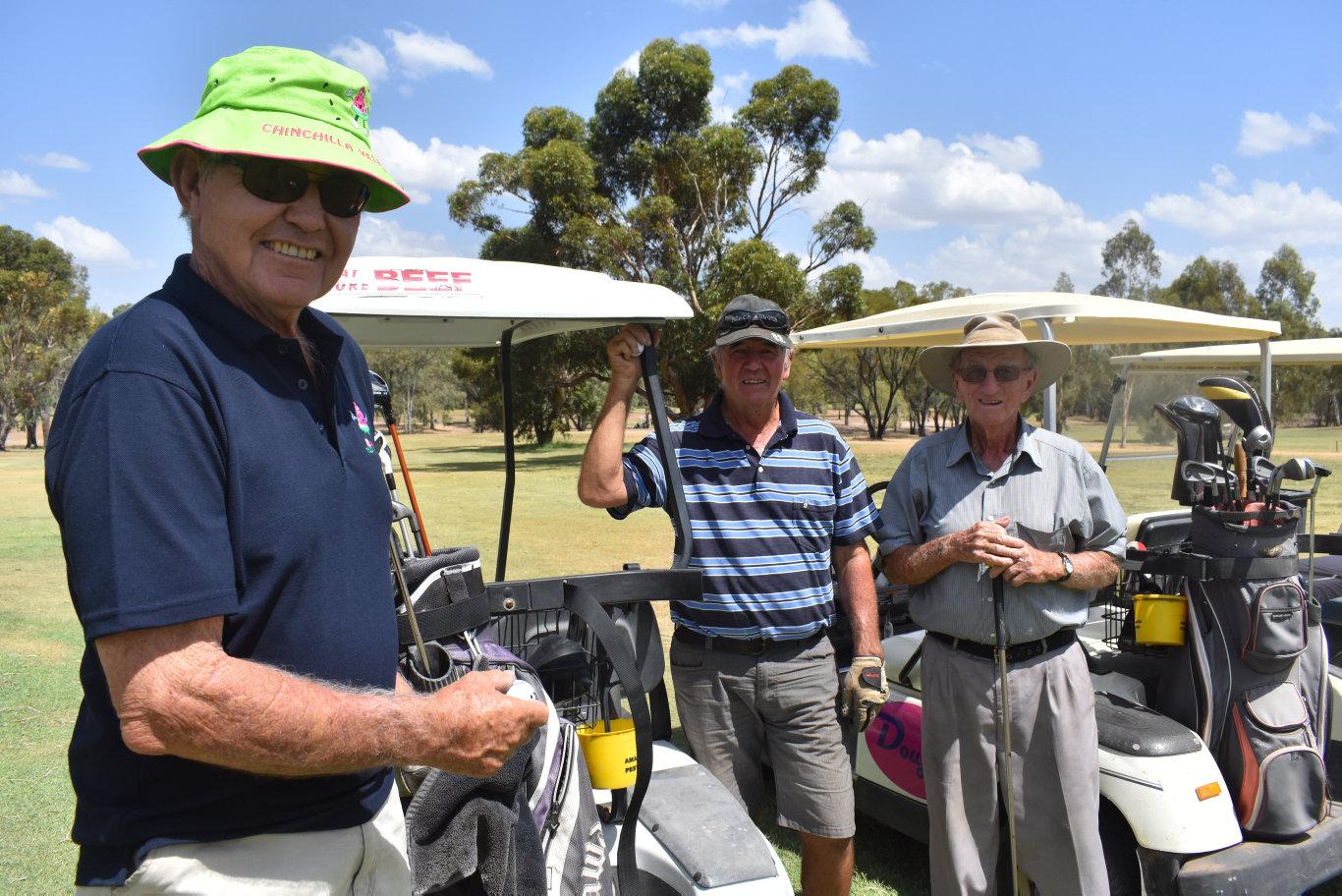 Doug Fields, Doug Haig and Bill Hughes, Chinchilla Golf Tournament, 2019.