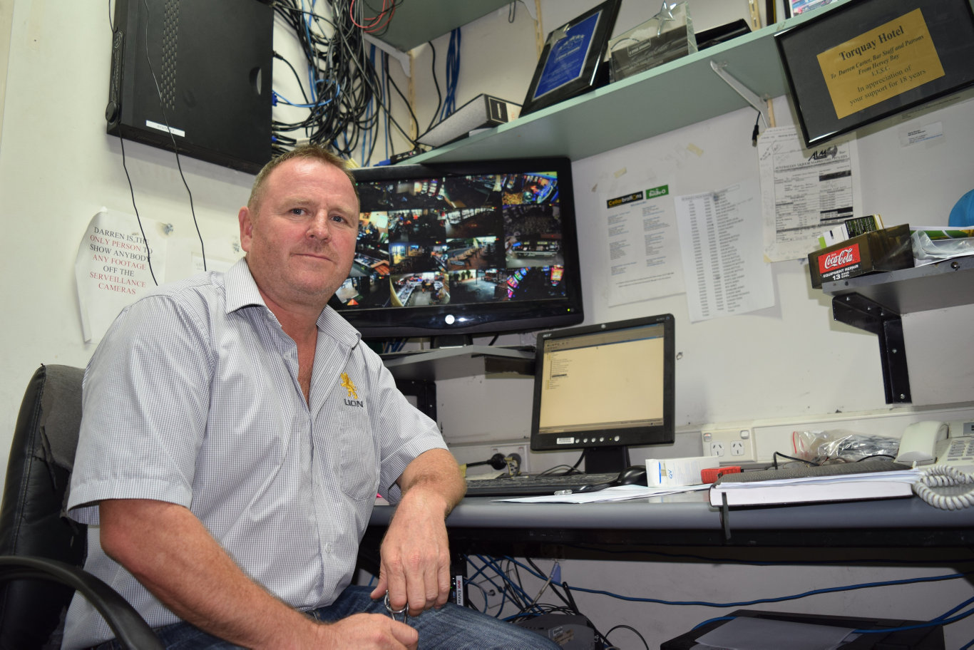 BEEFED UP SECURITY: Torquay Hotel owner Darren Carter has increased the number of security patrols after brazen thieves stole from his business about a week ago.
