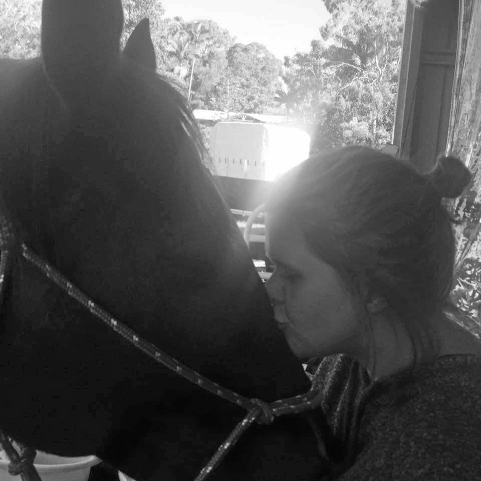 Mikala Burns with her horse Jacko.