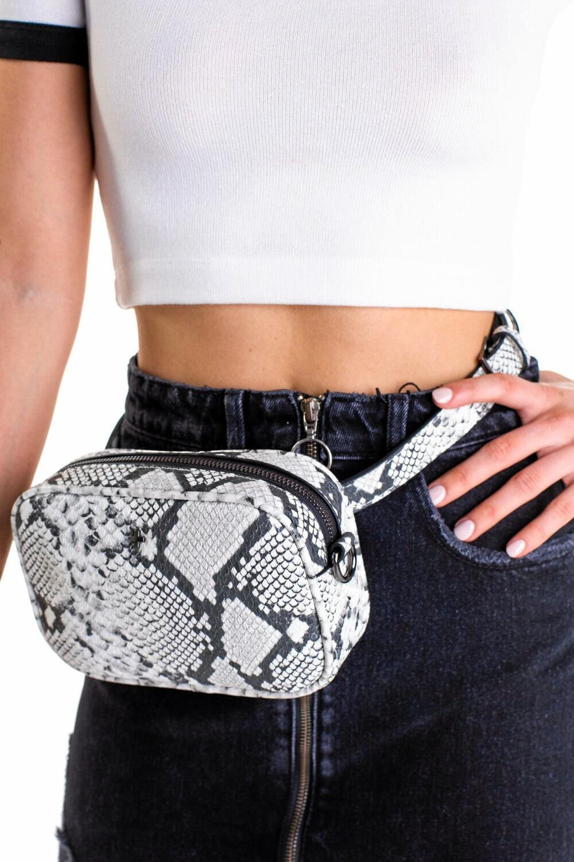 Peta and Jain snakeskin Raven bag, $69.95, petaandjain.com