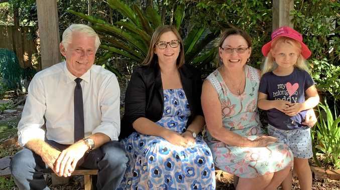 FUNDING ANNOUNCED: Member for Tweed Geoff Provest with Minister for Early Childhood Education Sarah Mitchell and Lindy Andrews.