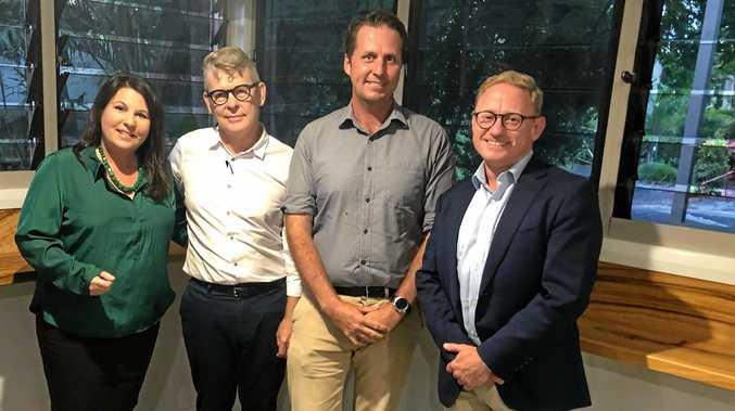 BALLINA CANDIDATES: Greens' Tamara Smith, MC Chris Hanley, Labor's Asren Pugh and Nationals' Ben Franklin