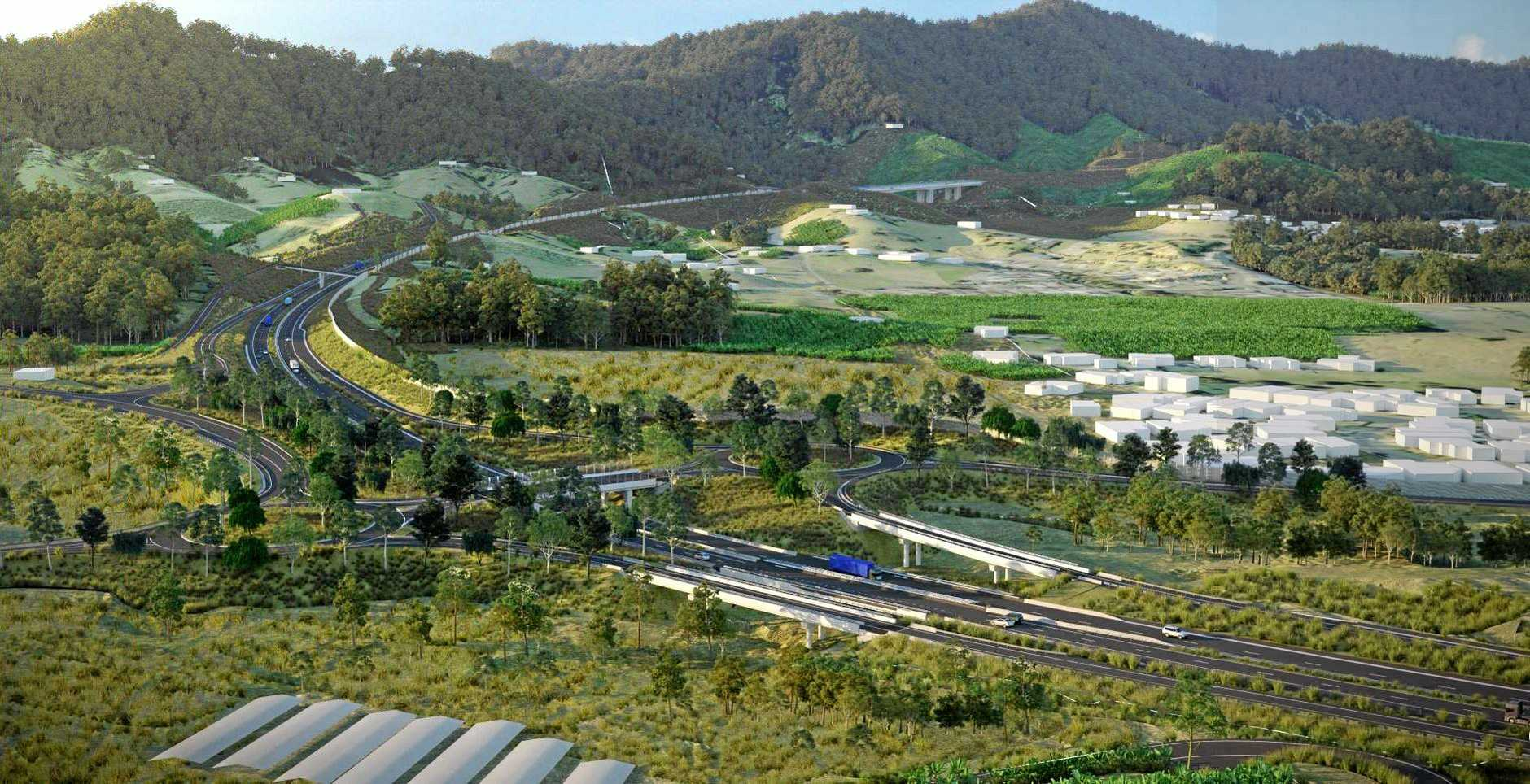 GET INVOLVED: An artist's impressions of the Coffs Harbour Pacific Highway Bypass.