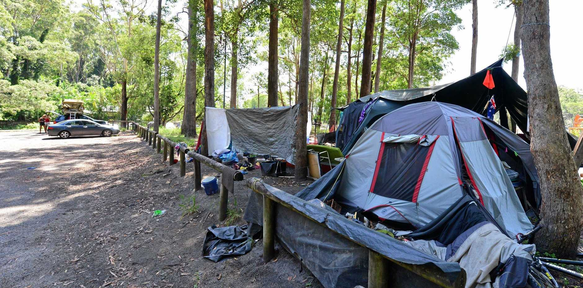 A homeless family that have been illegally camping at a 20-hour rest-stop on the Sunshine Coast have been re-homed.