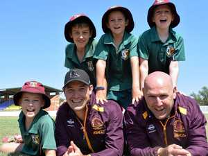 Broncos stars hit the footy field to meet young fans