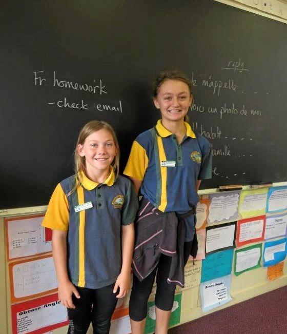 LEADERS: Monogorilby State School's 2019 leaders, Matilda Weier and Rachelle Cann.