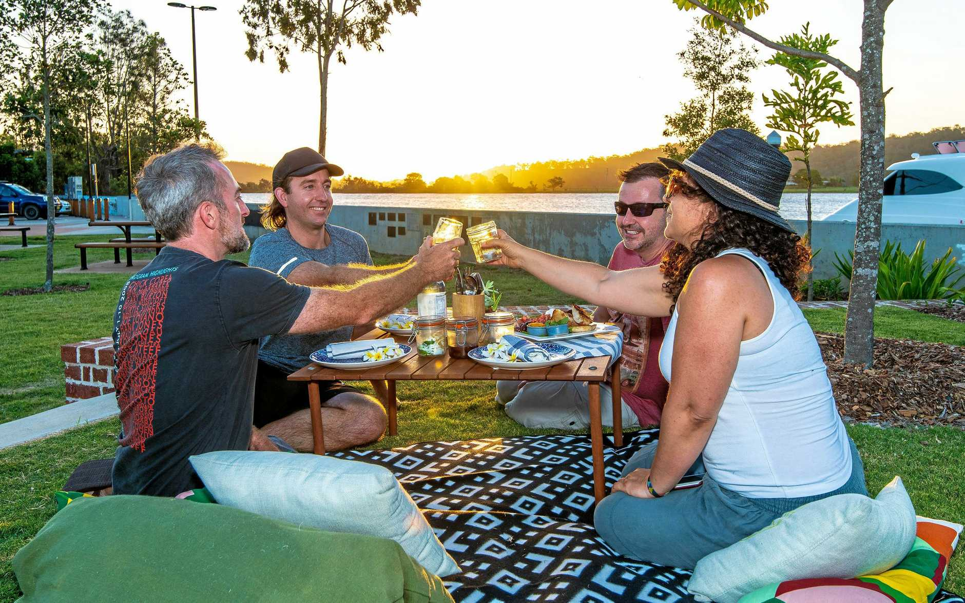 CHEERS: There's plenty on offer while enjoying the ambience of MacLachlan Park in Maclean with a Riverside Picnic. Book ahead or just turn up and bring your own food.