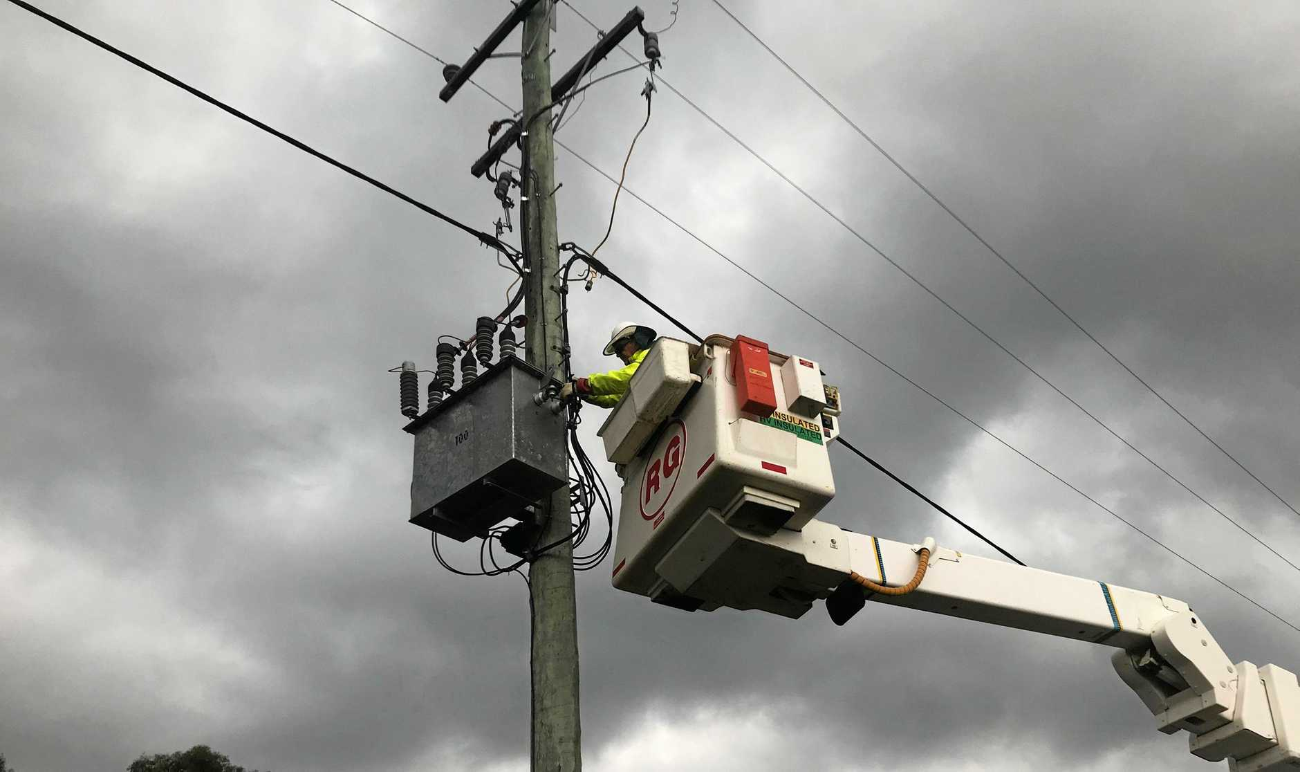 POWER OUTAGES: The Gympie region is experiencing power outages with 1334 homes left in the dark as a result of Cyclone Oma.