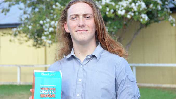 FOR A CAUSE: Tamlan Tasker has been hitting the street raising money for the Leukaemia Foundation as part of the World's Great Shave.