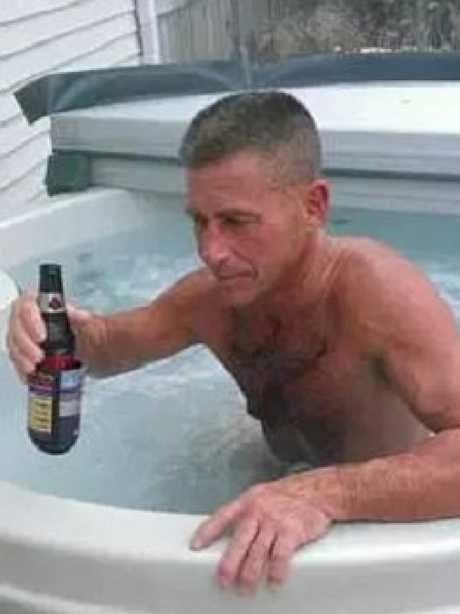 Huska is accused of letting his wife drown in their hot tub. Picture: Facebook