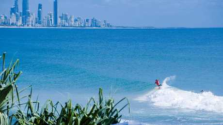 """Dave Rastovich, pictured here surfing at Burleigh Heads, will be part of the """"surf legends lounge"""" at the festival. Picture: Burleigh Boardriders"""