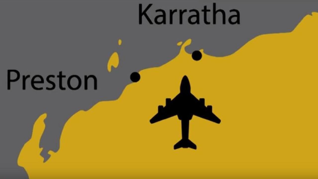 The remote airport is found in northwest Western Australia.