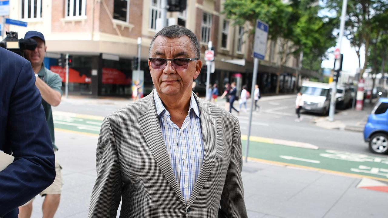 Claude Walker arrives at the District Court in Brisbane this morning. Picture: Dan Peled/AAP