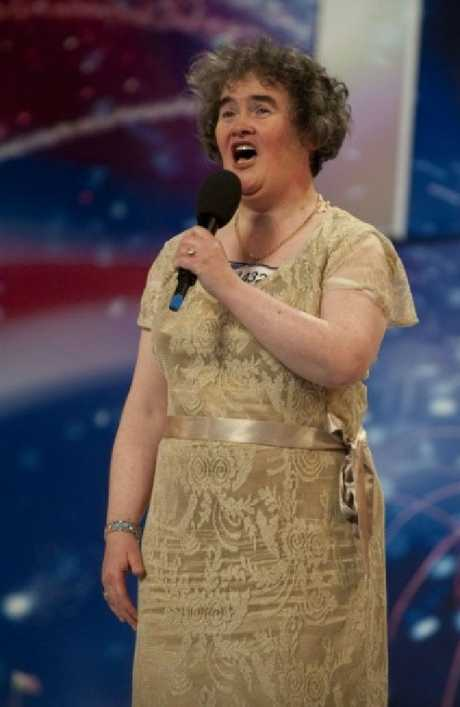 How the world first saw her: Susan auditions for Britain's Got Talent, 2009. Picture: HO/AFP/Getty