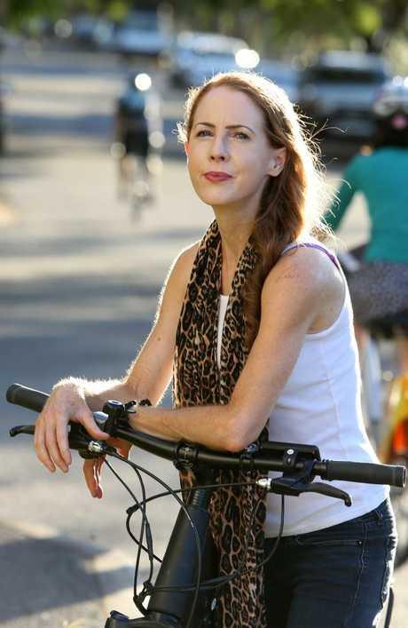 Bicycle Queensland CEO Anne Savage. Picture: AAP/Steve Pohlner