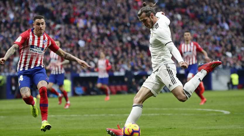 Gareth Bale got under the skin of Atletico Madrid fans. Picture: AP
