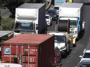 Truck, car smash causes delays on Monash Fwy