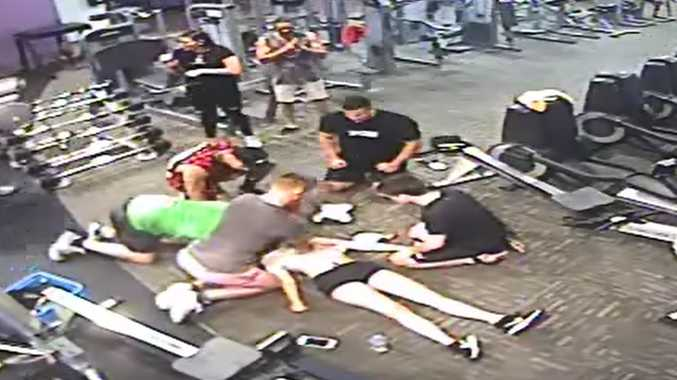 'I almost died on rowing machine': Gym heart attack on CCTV