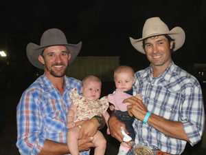 Saddle bronc winner Clayton Braden with daughter