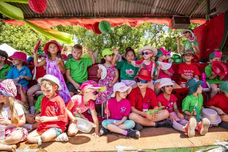 St Joseph's Catholic School won the best school float - Chinchilla Melon Festival parade 160219