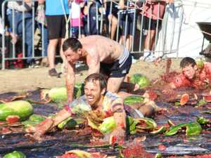 The Melon Iron Man and Iron Woman race at the 2019