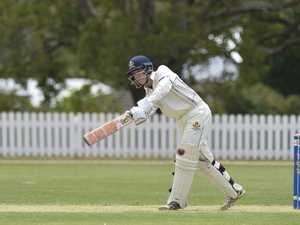 Harrison Weir batting for Toowoomba Grammar School
