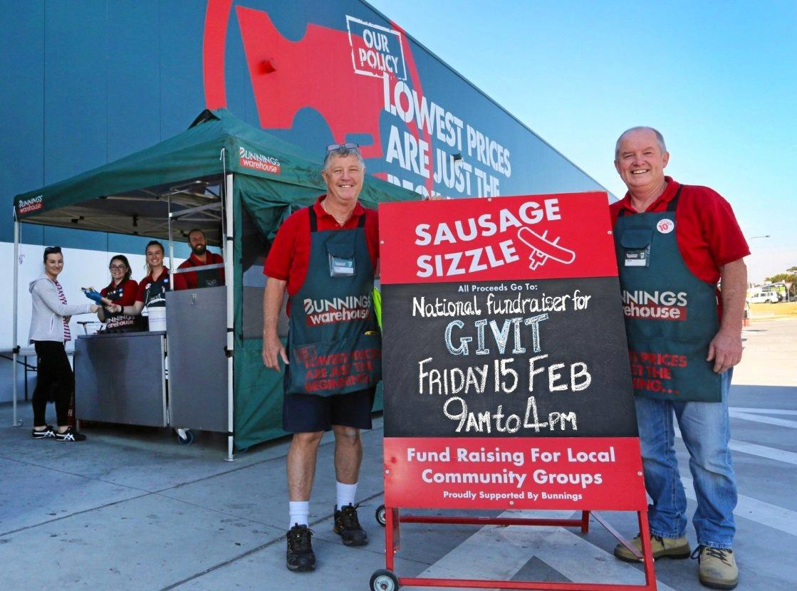 HELP'S COOKING: Head to Bunnings Noosaville today to have a snag and help the northern flood victims.