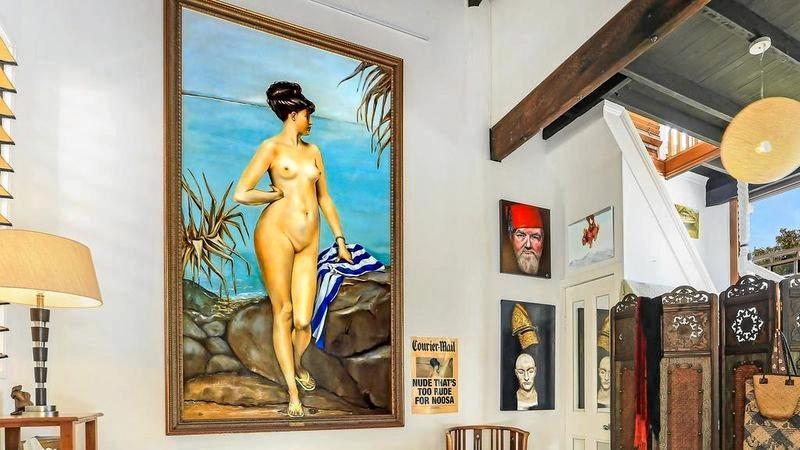Chloe in Noosa hangs in the main bedroom of 97 Orient Drive, Sunrise Beach.