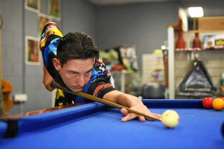 SHOT ABOVE: Gympie 8-ball player Joe McClintock is preparing for Australian National's with the aim of making in the Australian side.