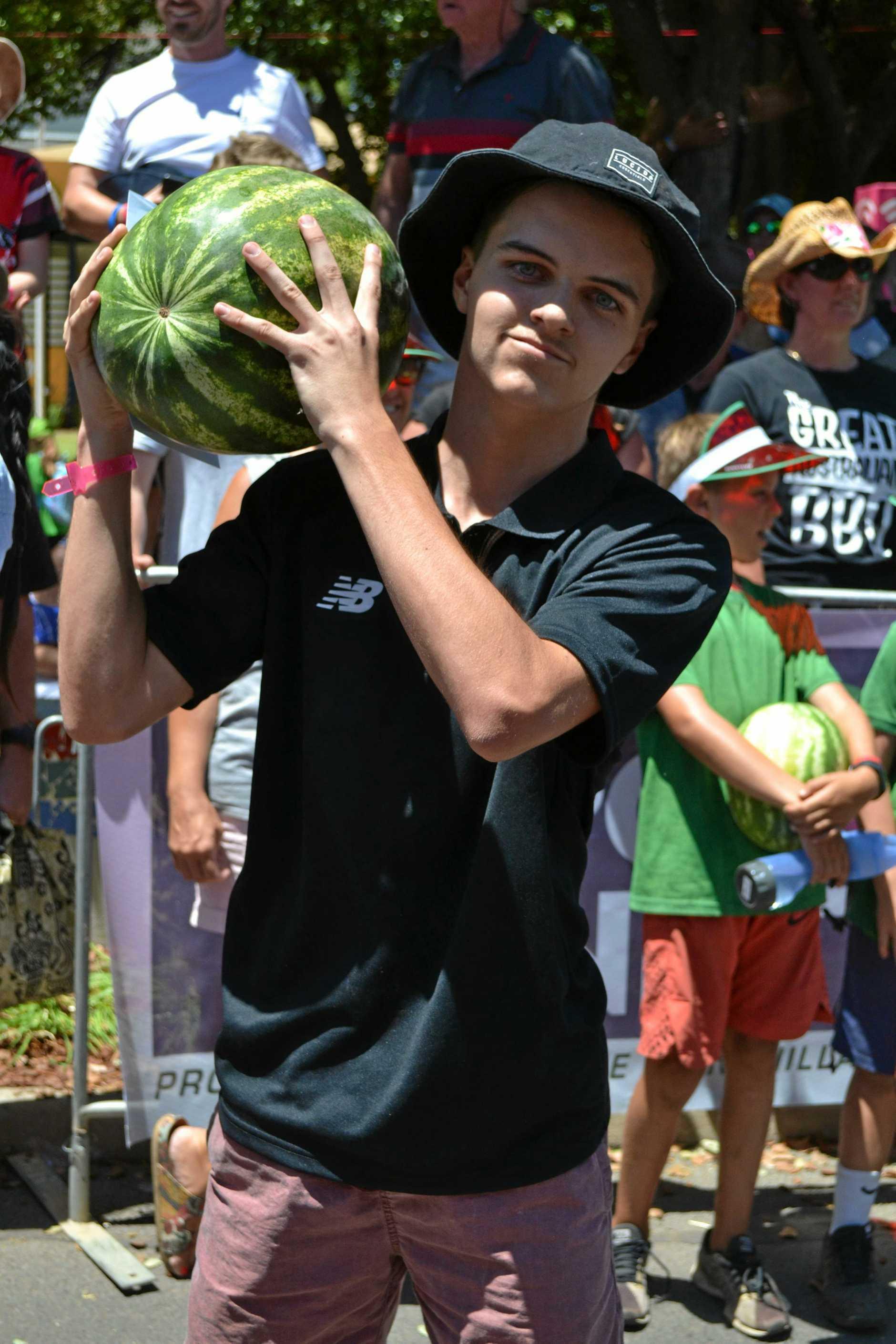 Kids melon dash winner Mitch Cartwright