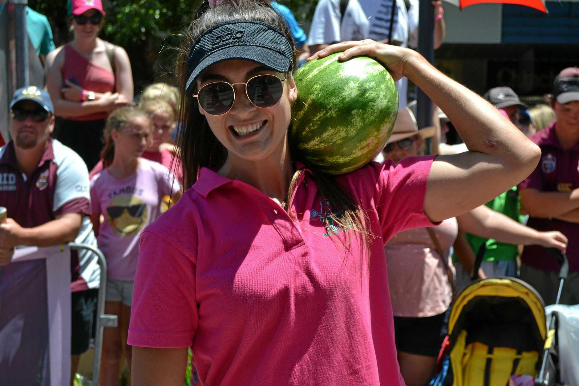 Women's melon dash winner Kirsten Fuller