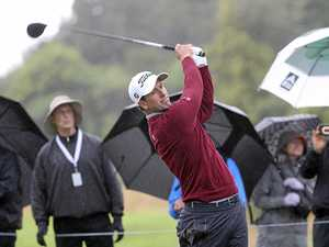 Scott shares lead at rain-soaked Genesis Open