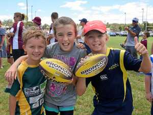 GALLERY: Warwick footy players learn from the Broncos' best