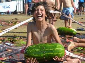 Stretching things out this Melon Festival
