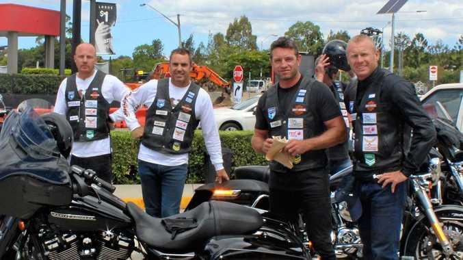ROAD HOGS: Mark O'Meley, Beau Scott, Brad Fittler, Danny Buderus and Michael Buettner in Grafton
