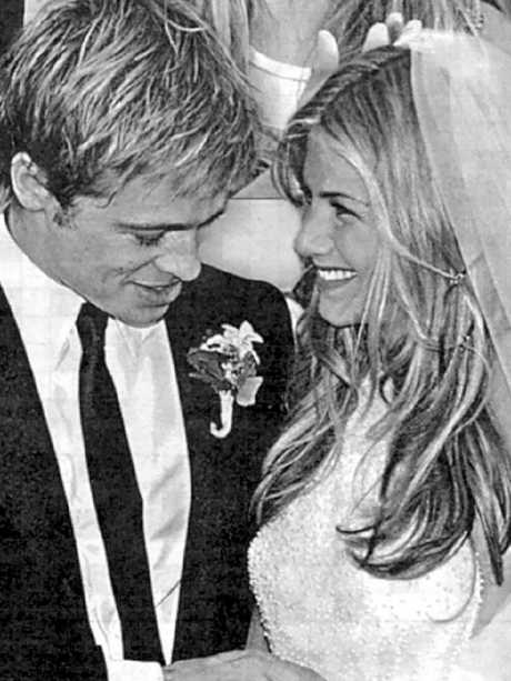 Brad Pitt married Jennifer Aniston in 2000. Picture: Supplied
