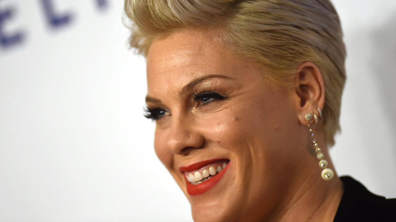 Pink confesses to slashing husband Carey Hart's tyres. Picture: AFP