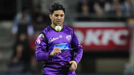 Qais Ahmad of the Hurricanes was a surprise packet in the concluding weeks of the BBL|08 season. Picture: AAP