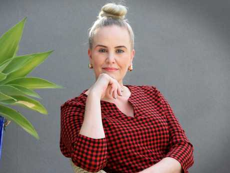 Helene Sheehan a beauty therapist from Brisbane had a heart attack two years ago at the age of 41, she was 20 minutes away from death Picture: Jamie Hanson