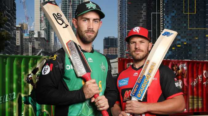 Stars captain Glen Maxwell and Renegades captain Aaron Finch ahead of the BBL final at Marvel Stadium. Picture: Michael Klein