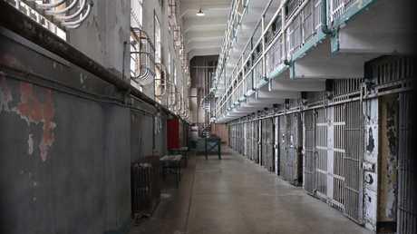 "Inside Alcatraz Prison's ""D Block""."