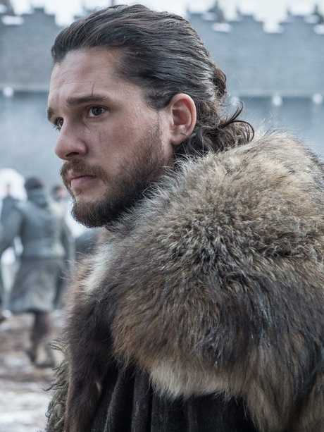 Rugged up as Jon Snow on GOT. Picture: Helen Sloan/HBO