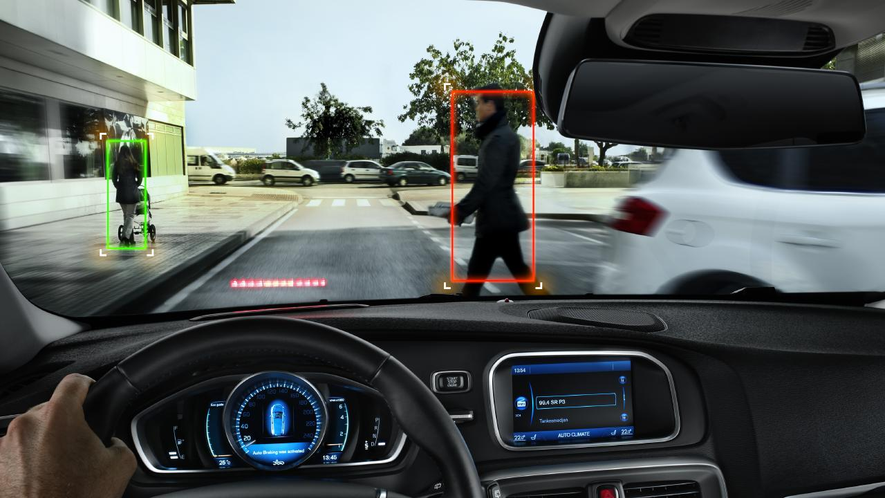 The technology can also detect pedestrians.